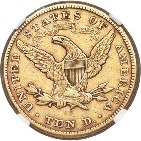 1875 CC $10 MS reverse