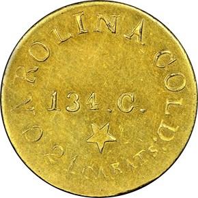 (1837-42) C.BECHTLER 134G, STAR $5 MS obverse
