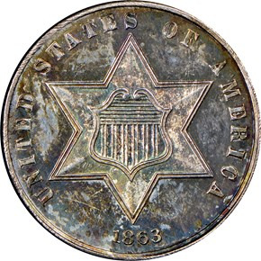 1863 3CS PF obverse