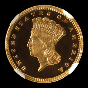 1877 G$1 PF obverse