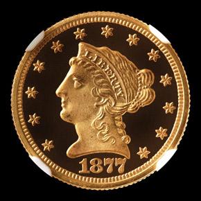 1877 $2.5 PF obverse
