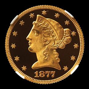 1877 $5 PF obverse