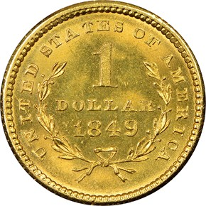 1849 SMALL HEAD NO L G$1 MS reverse