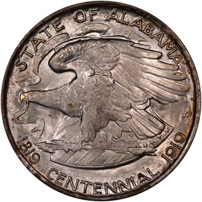1921 ALABAMA 50C MS reverse