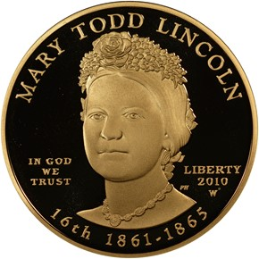 2010 W MARY LINCOLN G$10 PF obverse