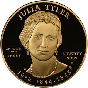 2009 W JULIA TYLER G$10 PF obverse