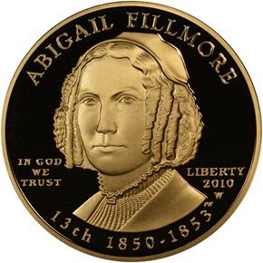 2010 W ABIGAIL FILLMORE G$10 PF obverse