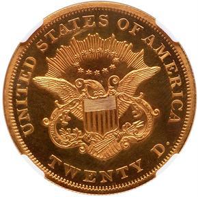 1863 $20 PF reverse