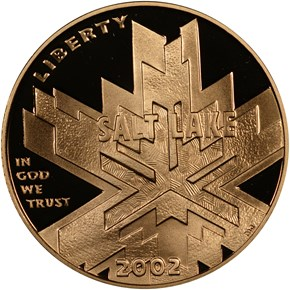 2002 W OLYMPICS $5 PF obverse