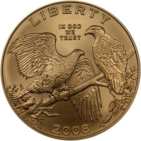 2008 W BALD EAGLE $5 MS obverse