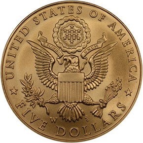 2008 W BALD EAGLE $5 MS reverse
