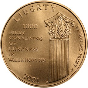 2001 W CAPITOL VISITOR CENTER $5 MS obverse