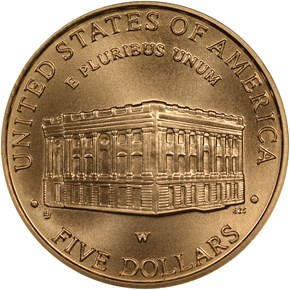 2001 W CAPITOL VISITOR CENTER $5 MS reverse