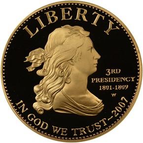 2007 W JEFFERSON'S LIBERTY G$10 PF obverse