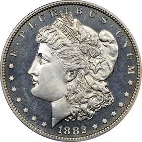 1882 $1 PF obverse