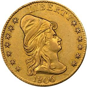 1806/5 STARS 7X6 BD-2 $2.5 MS obverse
