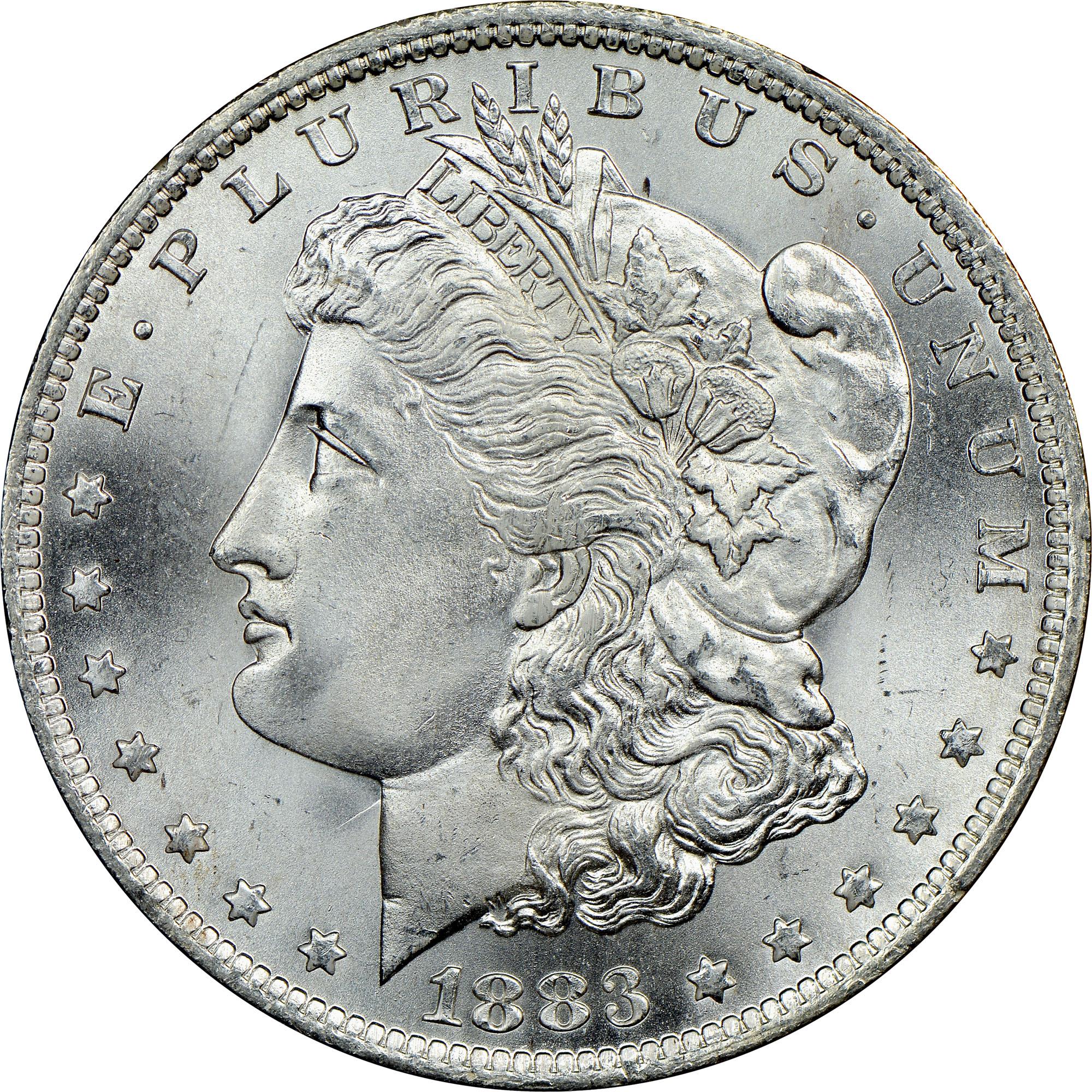 1883 O $1 MS Morgan Dollars