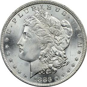 1883 O S$1 MS obverse