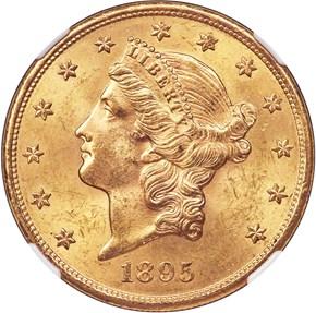 1895 S $20 MS obverse