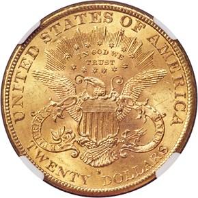1895 S $20 MS reverse