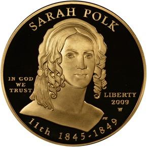 2009 W SARAH POLK G$10 PF obverse