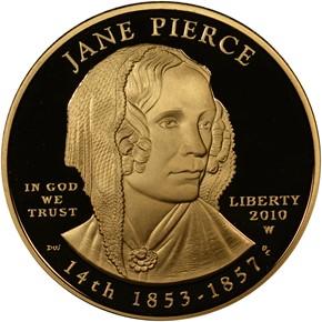 2010 W JANE PIERCE G$10 PF obverse