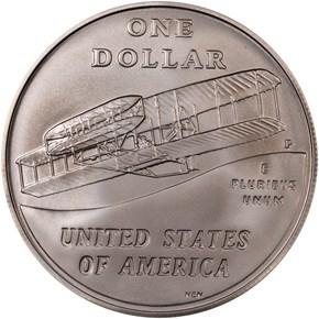 2003 P FIRST FLIGHT CENTENNIAL S$1 MS reverse