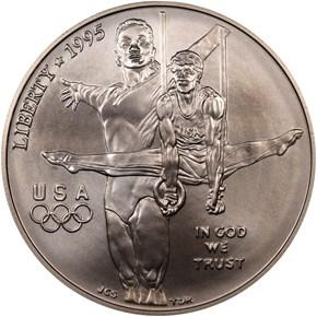 1995 D OLYMPICS GYMNASTICS S$ obverse