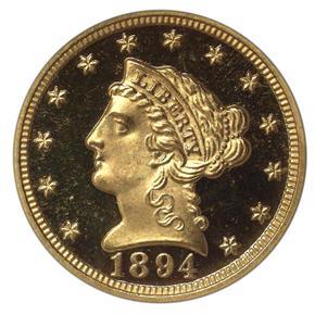 1894 $2.5 PF obverse
