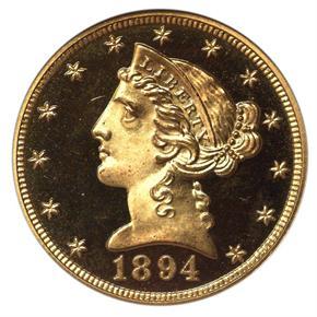 1894 $5 PF obverse