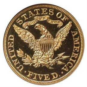 1894 $5 PF reverse