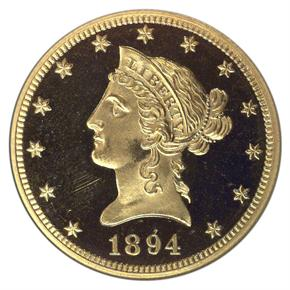 1894 $10 PF obverse