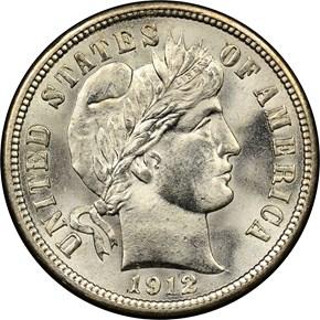 1912 10C MS obverse