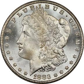 1883 CC $1 MS obverse