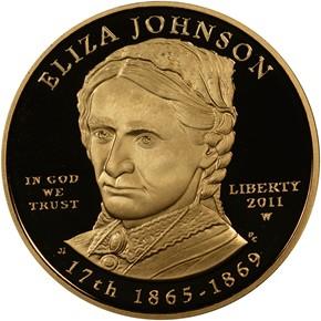 2011 W ELIZA JOHNSON G$10 PF obverse