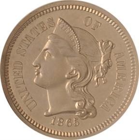1865 J-410 3CN PF obverse