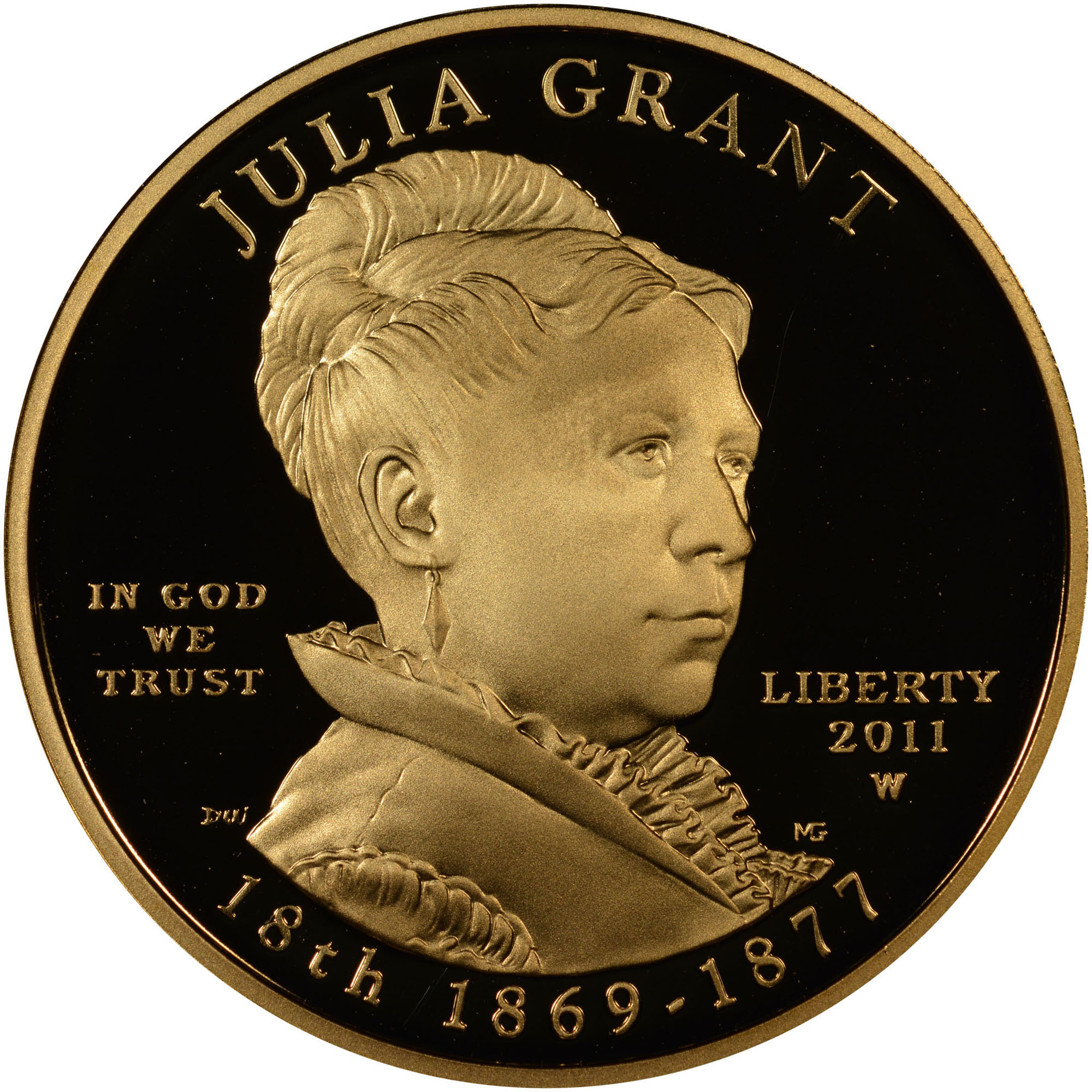 2011 W Julia Grant G 10 Pf Gold First Spouses Ngc