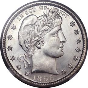 1896 S 25C MS obverse