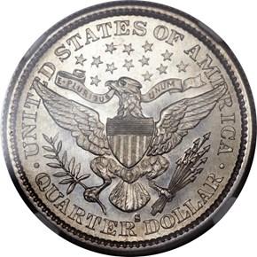 1896 S 25C MS reverse