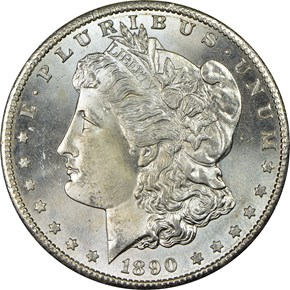 1890 S $1 MS obverse