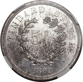 1869 J-746 50C PF reverse