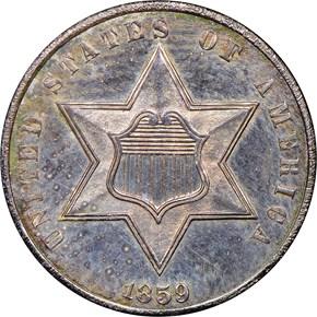 1859 3CS PF obverse