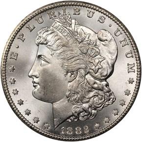 1882 CC $1 MS obverse