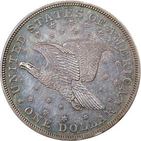 1836 SILVER GOBRECHT J-60 $1 PF reverse