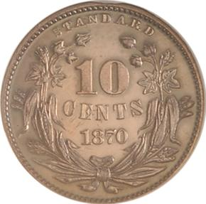 1870 J-844 10C PF reverse