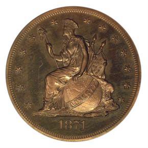 1871 J-1135 S$1 PF obverse