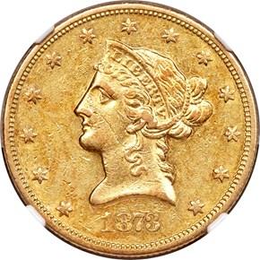 1873 S $10 MS obverse