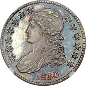 1830 50C PF obverse