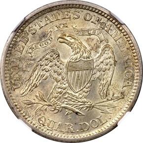 1872 S 25C MS reverse