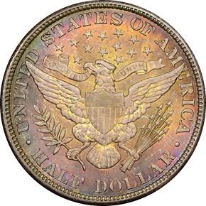 1908 D 50C MS reverse